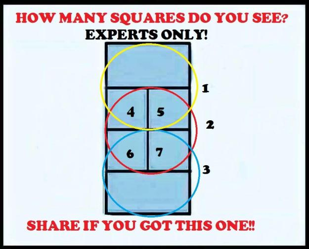 how many squares puzzle answer