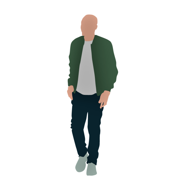 I wear a green jacket outside riddle