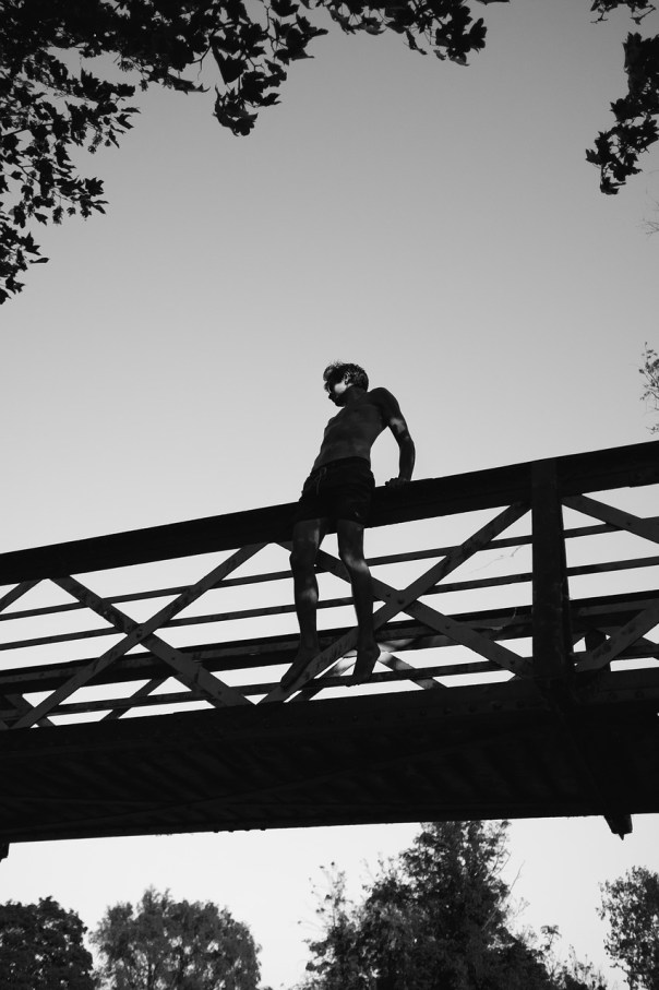 where was the man when he jumped off the bridge riddle
