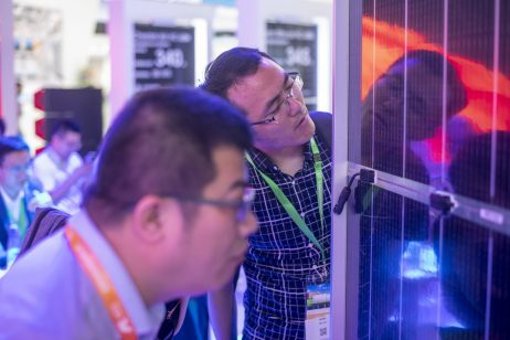 June 4, 2019, Shanghai, China - SNEC solar power trade show.