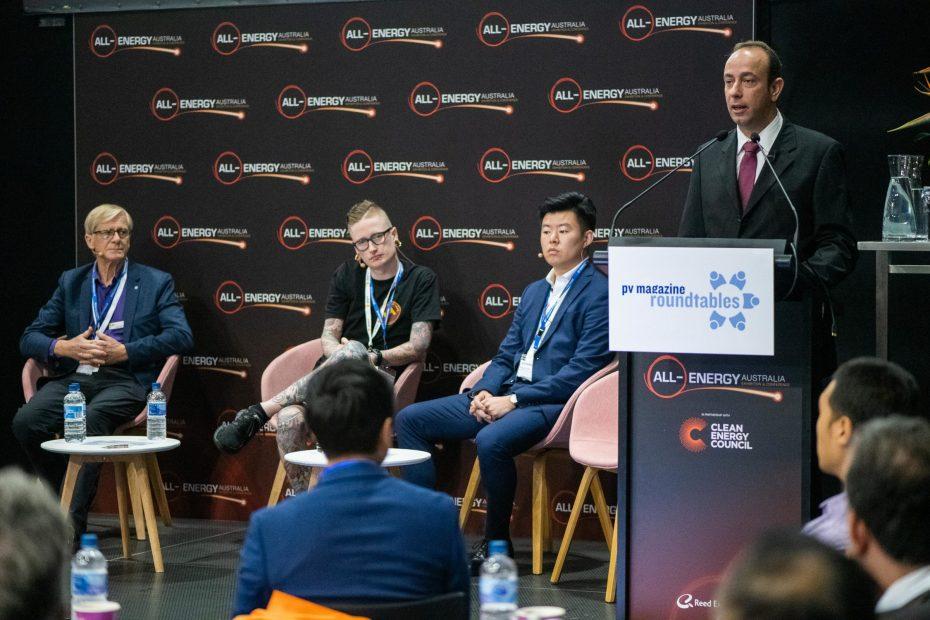 October 23, 2019, Melbourne, Australia - All Energy solar trade show.
