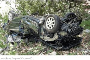 Kolašin: Pronađeno smrskano vozilo ispod magistrale