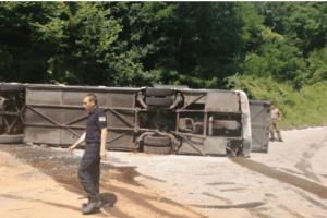 Prevrnuo se autobus: Povrijeđeno 15 vojnika Srbije