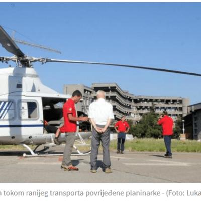 Gdje je sletio helikopter sa povrijeđenim turistima?