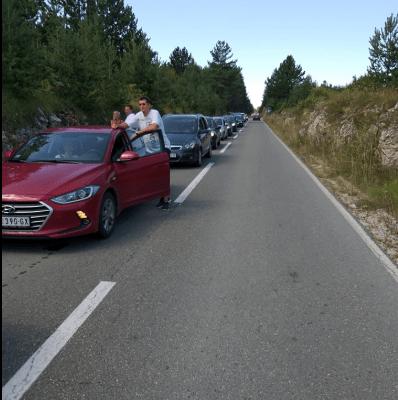 Kolone na graničnom prelazu Ranče prema Srbiji