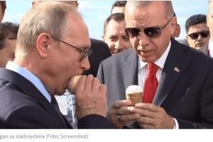 KUSUR ZA MINISTRA – Putin častio Erdogana sladoledom