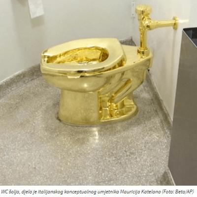 Ukradena zlatna WC šolja od milion funti