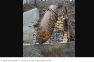 Mateševo: Uklonjena bomba iz Drugog svjetskog rata, teška tonu