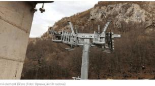 Postavljeni prvi elementi žičare prema Đalovića pećini