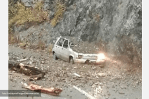 Kameni rulet na cesti na Sokolovini