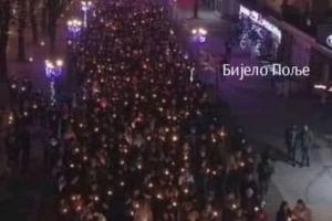 Litija u Bijelom Polje prošla sa incidentom