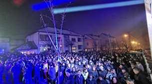 Večerašnjoj, 15. litiji pa Svetosavskoj akademiji prisustvovao najveći broj građana Pljevalja