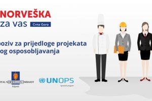 Otvoren javni poziv za podršku zapošljavanju u Crnoj Gori uz podršku Norveške