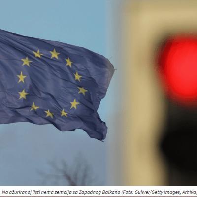 Granice EU i dalje zatvorene za Crnu Goru