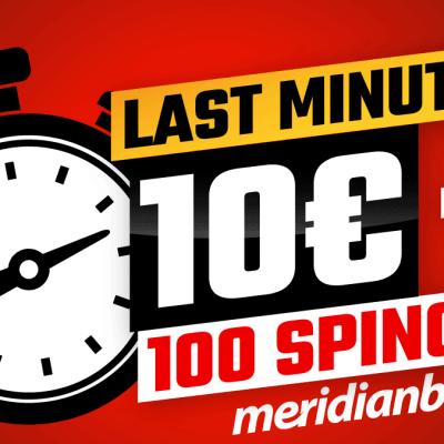 Pokupi poklone dobrodošlice u Meridianu – 10€ bonusa i 100 besplatnih spinova!