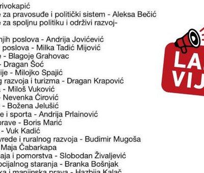 Tabloidi iz Srbije objavili lažni spisak sastava buduće Vlade