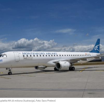 Upravni sud će o 155 miliona eura državne pomoći za Montenegro Airlines?