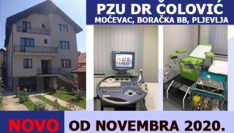 """NOVO u JZU """"Dr Čolović"""""""