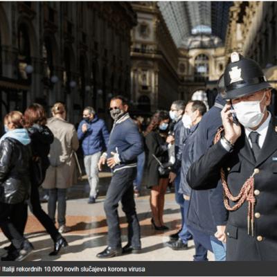 U Italiji rekordnih 10.000 novih slučajeva virusa korona