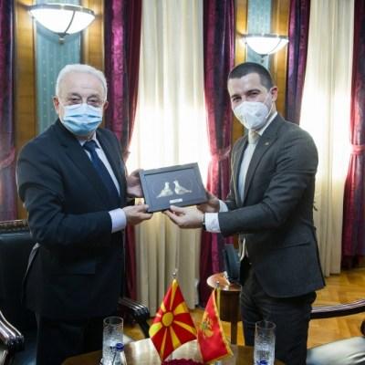 Bečić se sastao sa Trpkoskim: CG će nastaviti da pruža podršku Sjevernoj Makedoniji na putu ka EU