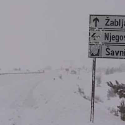 Put Šavnik – Žabljak ponovo zatvoren za saobraćaj