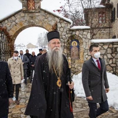Predsjednik Skupštine posjetio manastir Đurđevi Stupovi