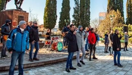 Protest Udruženja estradnih umjetnika, traže pravo na rad