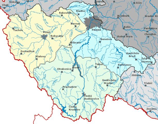 Výsledek obrázku pro povodí vltavy území