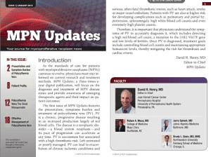 MPN Updates Newsletter #1