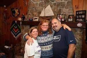 Close friend Kathleen with Kathy and Gary