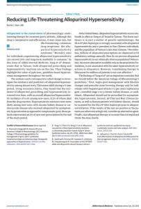 allpopurinol in MPN