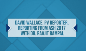Dr. Raajit Rampal at ASH 2017, Single Arm Salvage Therapy with Pegasys for High Risk PV or ET Patients, Final Results from MPD-RC111 Study