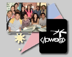 Accessites image of PWAG members, Philippine flag and logo