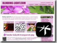 Snapshot of Blinding-light web site in shadow background