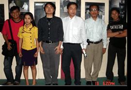 Vietnam and Malaysian visitors pose with ATRIEV staff