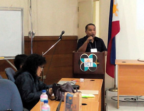 Asst. TCD Chief Dandy Victa explains about inclusive ICT Policies in the Philippines.