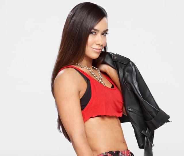 Hot New Photos Of Aj Lee In Leather Plaid