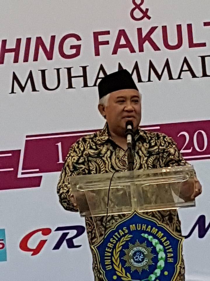 Pidato Din Syamsudin dalam Launching Fak Kedokteran UMSurabaya
