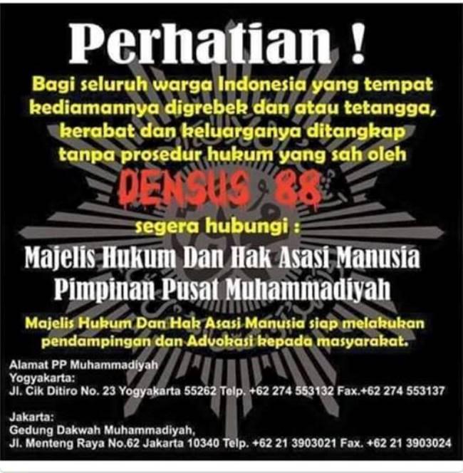 HOAX! Meme Muhammadiyah Advokasi Korban Densus 88
