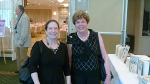 Library Trustee Nancy Comer and Nora Haagenson