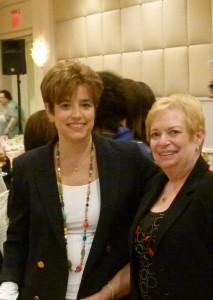 Ellen Fox, a Silver Sponsor, and Jane Tafarella