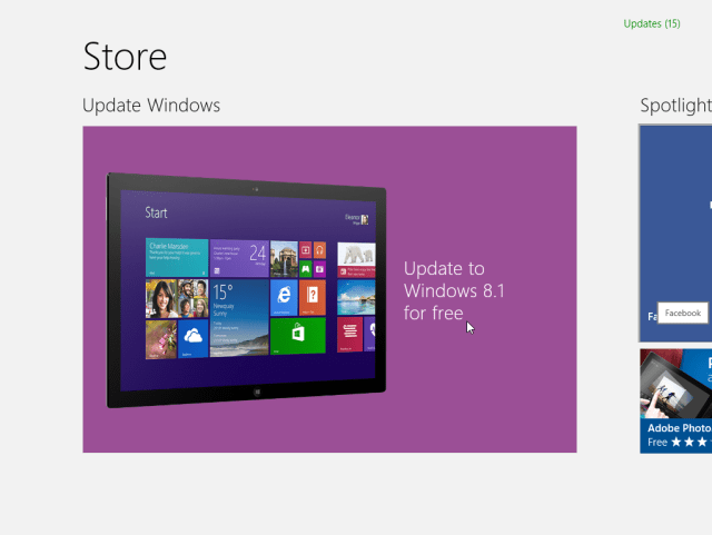 Update to Windows 8.1 for free