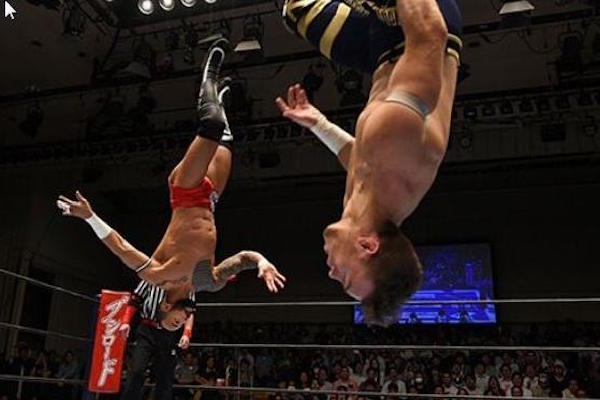 Will Ospreay vs. Ricochet - NJPW BOSJ 2016 (News.com.au)