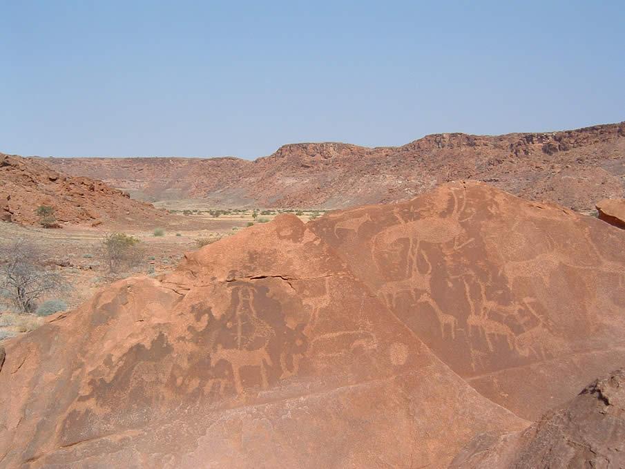 Twyfelfontein in Namibia