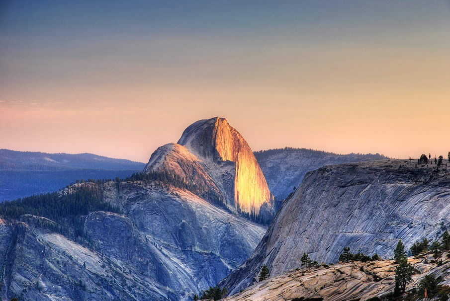 Half Dome at Yosemite Valley in California