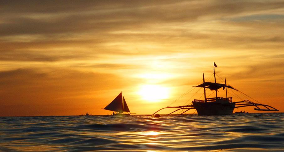 Philippines Boracay Sunset
