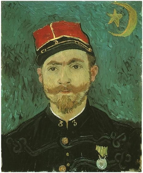 Portrait of Milliet; Second Lieutenant of the Zouaves
