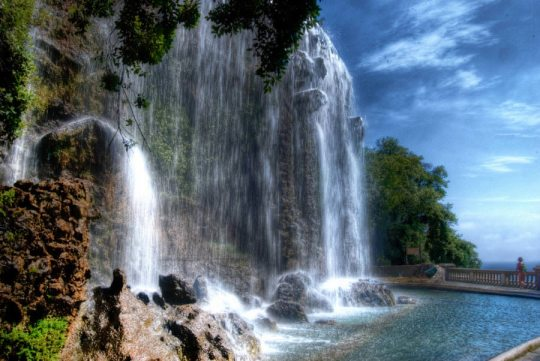 The Castle Waterfall in Nice