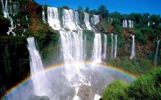 Rainbow Over Waterfalls