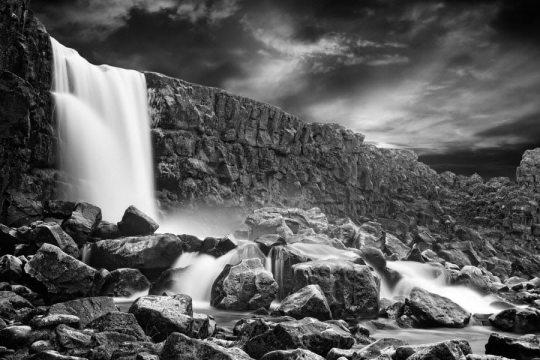 Waterfall at Þingvellir